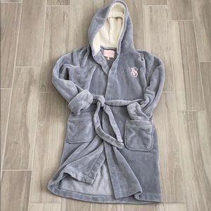 Victoria's Secret plush hooded robe Small